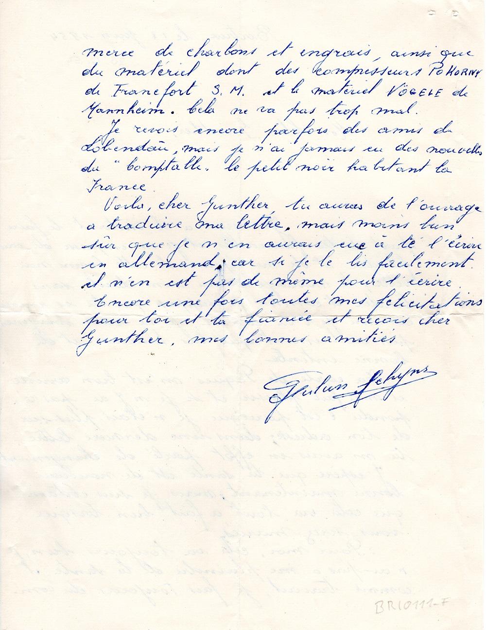 Freund brief französisch schreiben Musterbrief Französisch